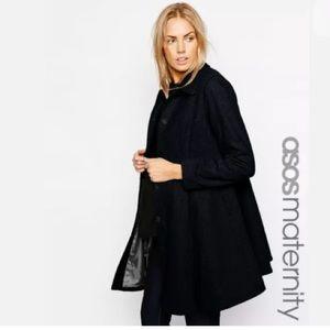 ASOS Maternity Jackets & Coats - ASOS MATERNITY NAVY WOOL PLEATED SWING COAT 12